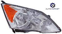Фара основная правая (хром) желтая вставка Honda CR-V 2010-2012