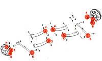 Сайлентблок заднего поперечного рычага развальный, 2911040001, GEELY CK, ДЖИЛИ СК, ck2