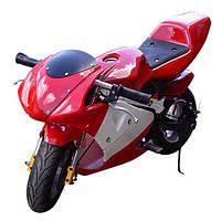 Мотоцикл HB-PSB 01-E-3 (1шт)  мотор 500W/36V, 3 аккум12V12AH,перекл.скор,,до 65кг, красный