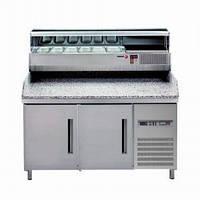 Стол холодильный с гранитной столешницей и витриной MPZ-150