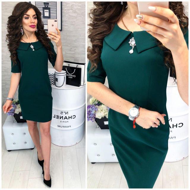 Платье, модель 811  темно зеленое