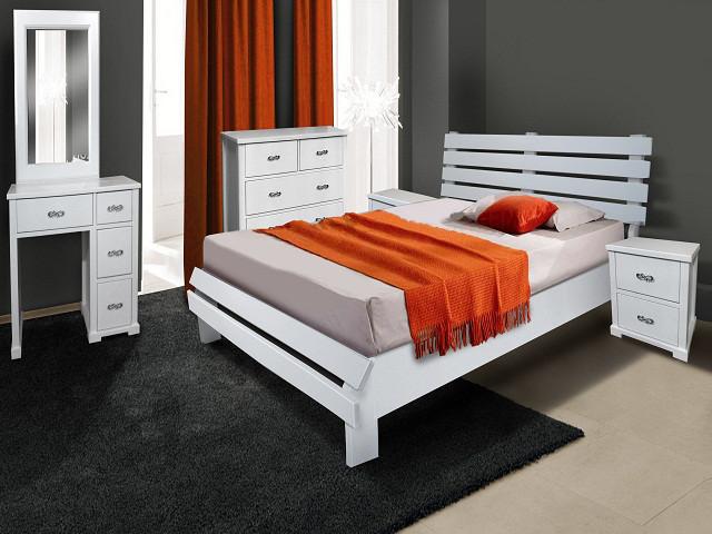 Тахта півтораспальна з натурального дерева в спальню, дитячу Беата 120*200 Єлісєєвські меблі