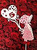 Топпер девочка с шариками, 2D топпера серии Holly Hobbie