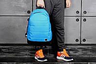 Рюкзак Adidas городской мужской с отделением для ноутбука с кожаным дном (голубой)