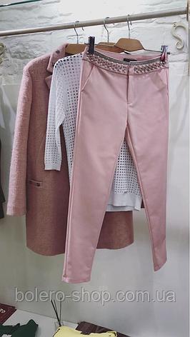 Женское пальто шерсть пудра Rinascimento Италия, фото 2