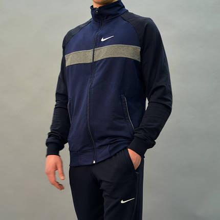 Розміри:46,48. Турецький чоловічий спортивний костюм Nike (Найк) / Трикотаж, Двухнитка, фото 2