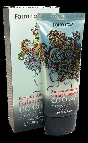 Многофункциональный СС крем с ферментом галактомисис SPF50+ PA+++ FarmStay Formula All-In-One Galactomyces CC