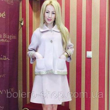 Пиджак женский Италия фирма Miss Money, кашемир с золотой окантовкой, фото 2