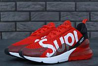 Мужские кроссовки Nike Air Max 270 SUPREME Red/Black 41, фото 1