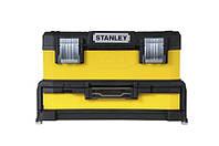 ✅ Ящик инструментальный 54x28x33 профи 2 секции, металлопластик (выдвижная секция 10см) желтый STANLE