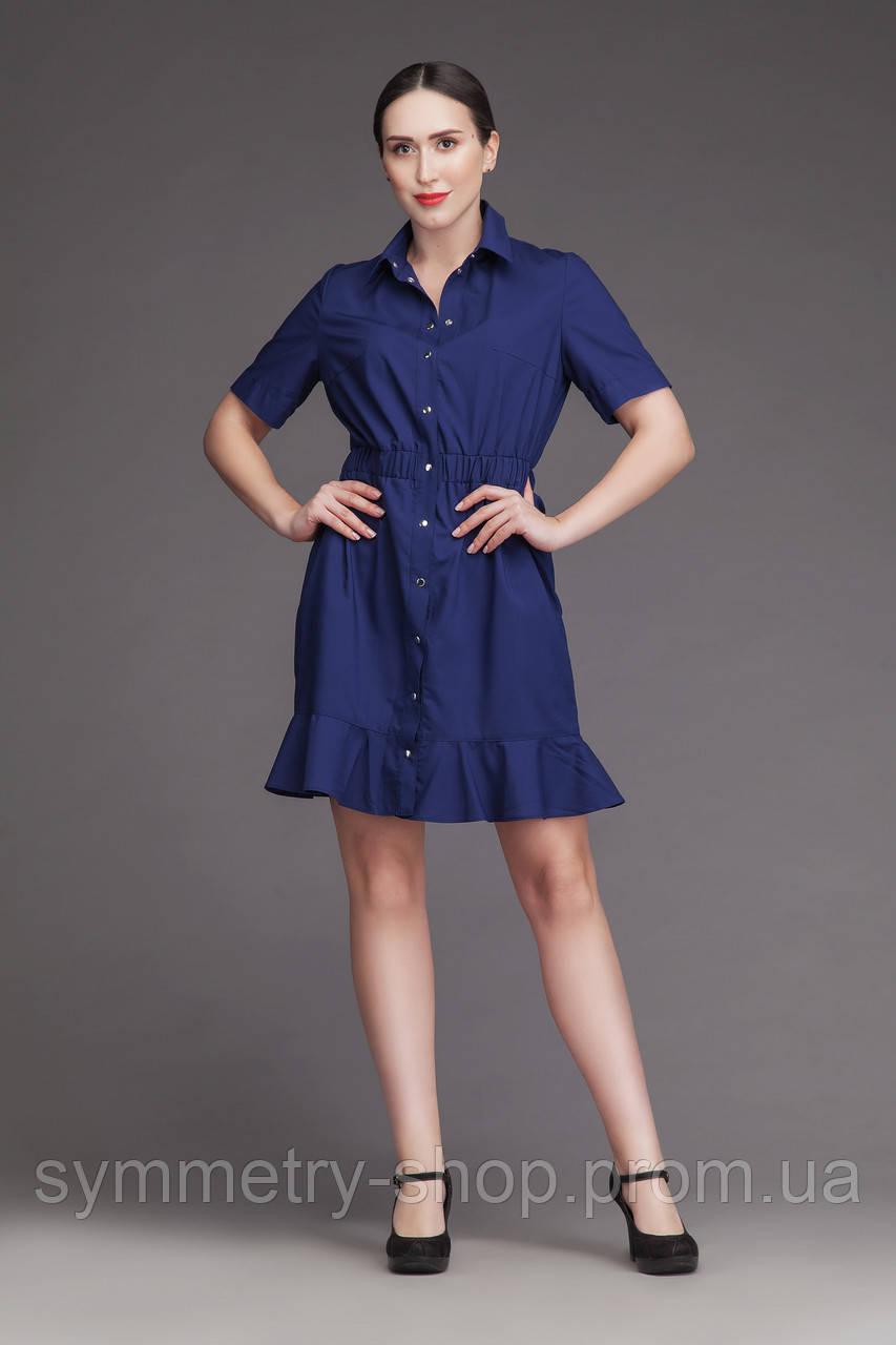 H007 медицинское платье, синее