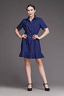H007 медицинское платье, синее, фото 1