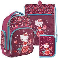 Рюкзак в комплекте 3 в 1 Hello kitty KITE HK18-706M+601M-2+621-2