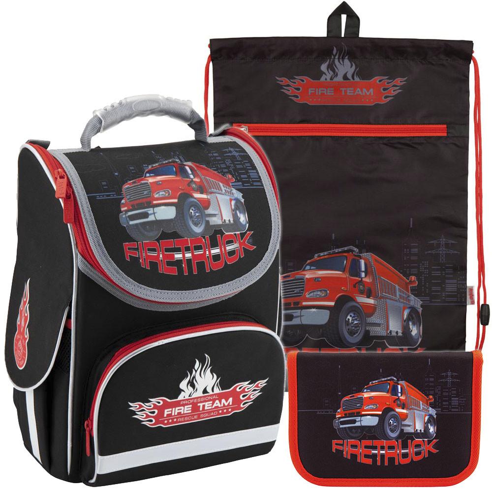 09b701644c77 Рюкзак в Комплекте 3 в 1 Firetruck KITE K18-501S-1+601M-5+621-5 — в ...