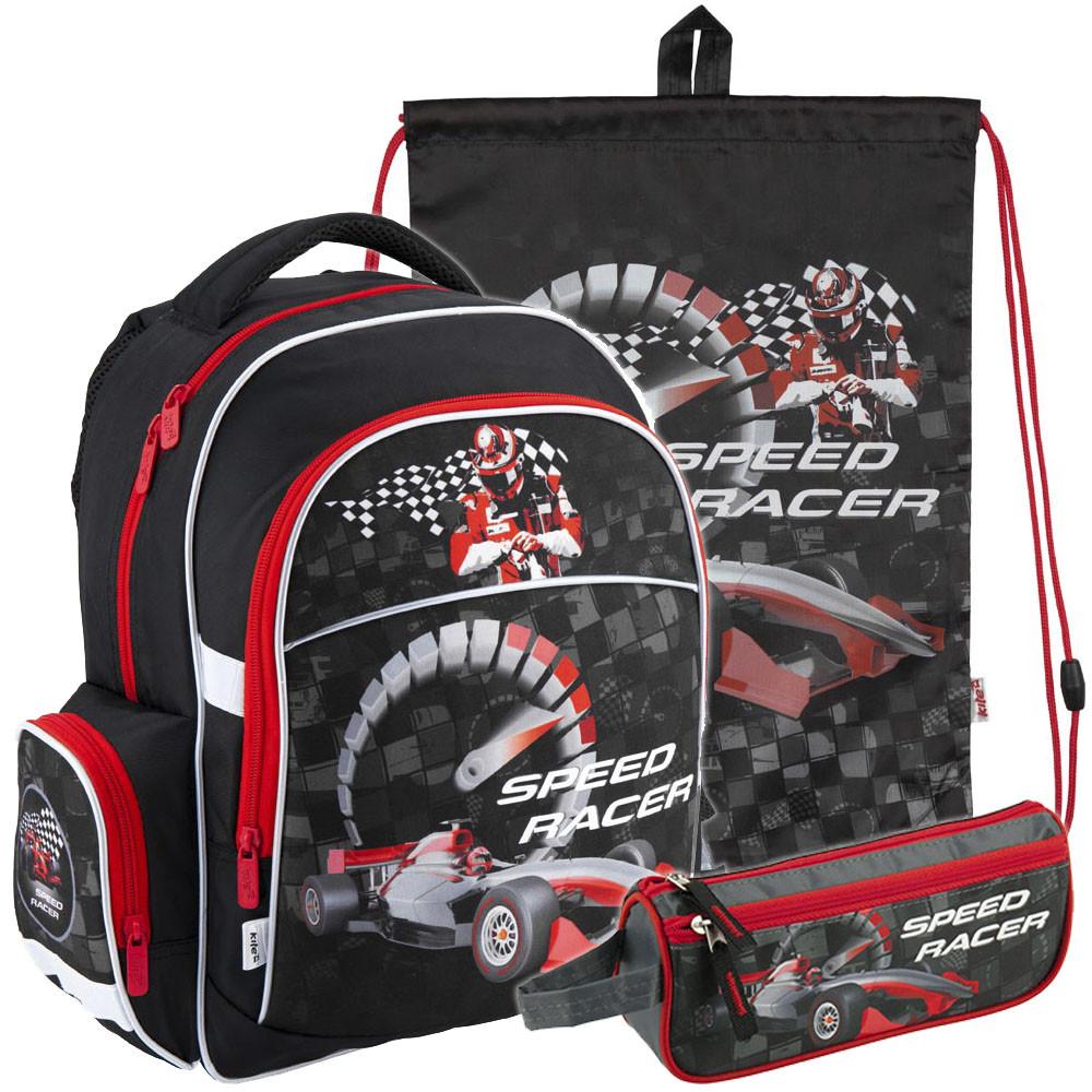 7a9466fe1c20 Рюкзак в Комплекте 3 в 1 Speed Racer KITE K18-510S-1+600S-8+643-1 ...