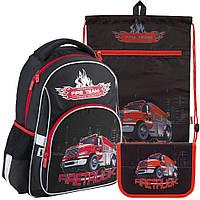 Рюкзак в комплекте 3 в 1 Firetruck KITE K18-513S+601M-5+621-5