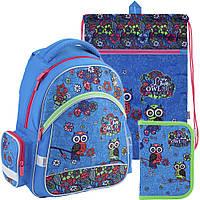 Рюкзак в комплекте 3 в 1 Pretty owls KITE K18-521S-1+601M-1+622-1