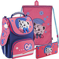 Рюкзак в комплекте 3 в 1 Pretty kitten KITE K18-501S-7+600S-1+664-1