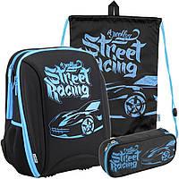 Рюкзак в комплекте 3 в 1 Brooklyn racer KITE K18-732M-1+600S-15+662-3