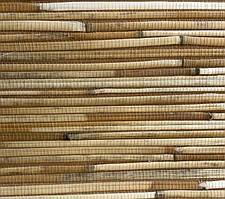 """Рулонные обои из дерева """"Коричневые"""" (натуральный бамбук,джут)"""
