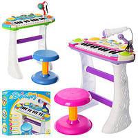 JT Пианино 7235 Музыкант, на подставке, стул, микрофон, 2цвета,на бат-ке, в кор-ке, 46-44-12см