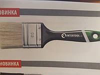 Кисть флейцевая 76*13*44 мм, пластиковая ручка INTERTOOL KT-1376