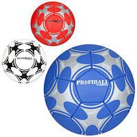 Мяч футбольный 2500-54ABC (30шт) размер5,ПУ1,4мм,32панели,ручная работа,400-420г,3цвета,