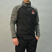 Размеры:46,48,50,52,54. Черный мужской спортивный костюм Reebok Crossfit (Рибок) | Турция, Трикотаж-лакоста