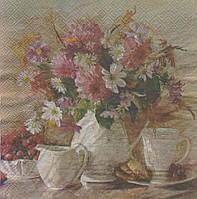 Редкая декупажная салфетка Натюрморт чайная церемония 1927