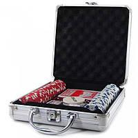 Покерный набор в кейсе Professional Poker 100 фишек
