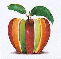Салфетка для декупажа Яблоко цветное 7297