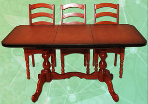 Стол раздвижной на 2-х ножках длина 1-1,3 м ширина 0,6 м, фото 2
