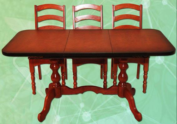 Стол раздвижной на 2-х ножках длина 1,5 м ширина 0,6 м, фото 2