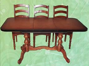 Стол раздвижной на 2-х ножках длина 1-1,3 м ширина 0,6 м, фото 3