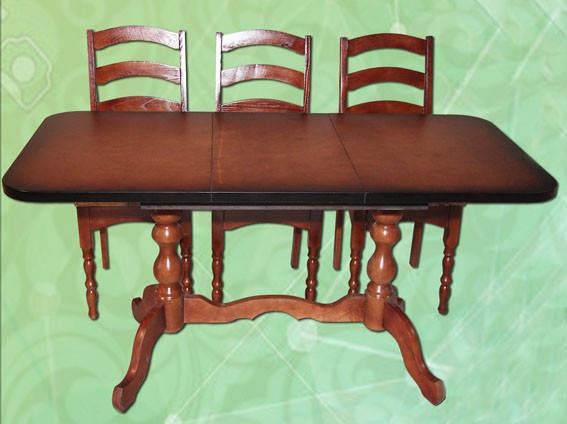Стол раздвижной на 2-х ножках длина 1,5 м ширина 0,65 м, фото 2