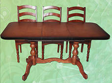 Стол раздвижной на 2-х ножках длина 1,5 м ширина 0,65 м