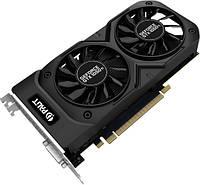 Видеокарта GeForce GTX1050Ti OC, Palit, Dual, 4Gb DDR5, 128-bit, DVI/HDMI/DP, 1480/7000 MHz (NE5105TS18G1-1071D)