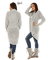 Довгий кардиган накидка светр