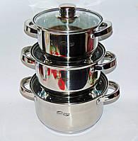Набор кастрюль 6пр 1,5, 2 и 3л Switzner SW9993