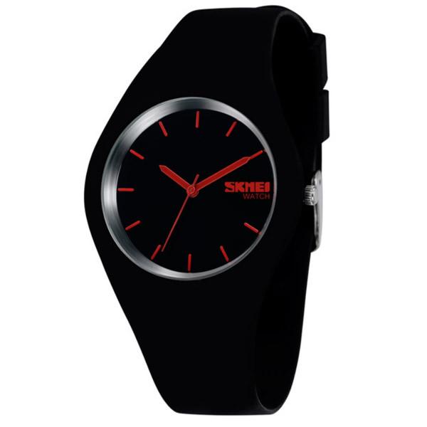 Женские часы Skmei Rubber Black 9068