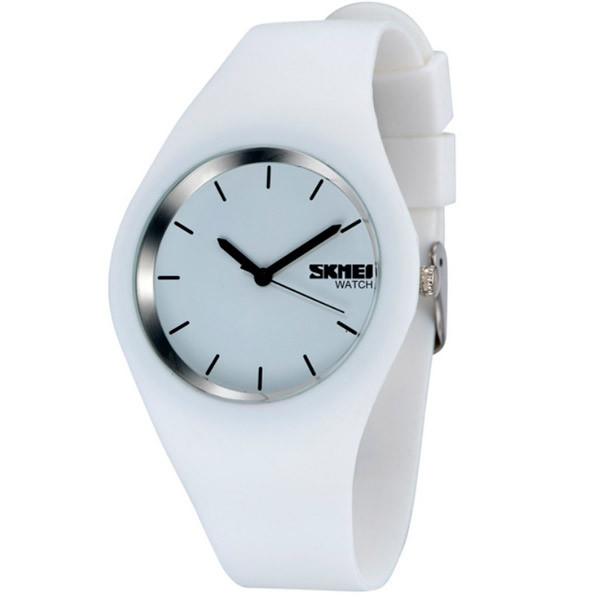 Женские часы Skmei Rubber White II