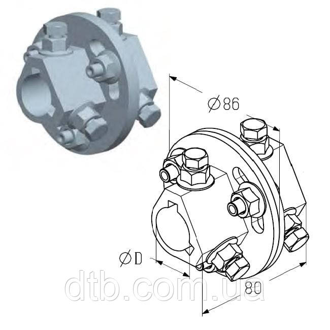 Муфта сполучна AC для вала воріт, ролет гаражних і промислових Alutech