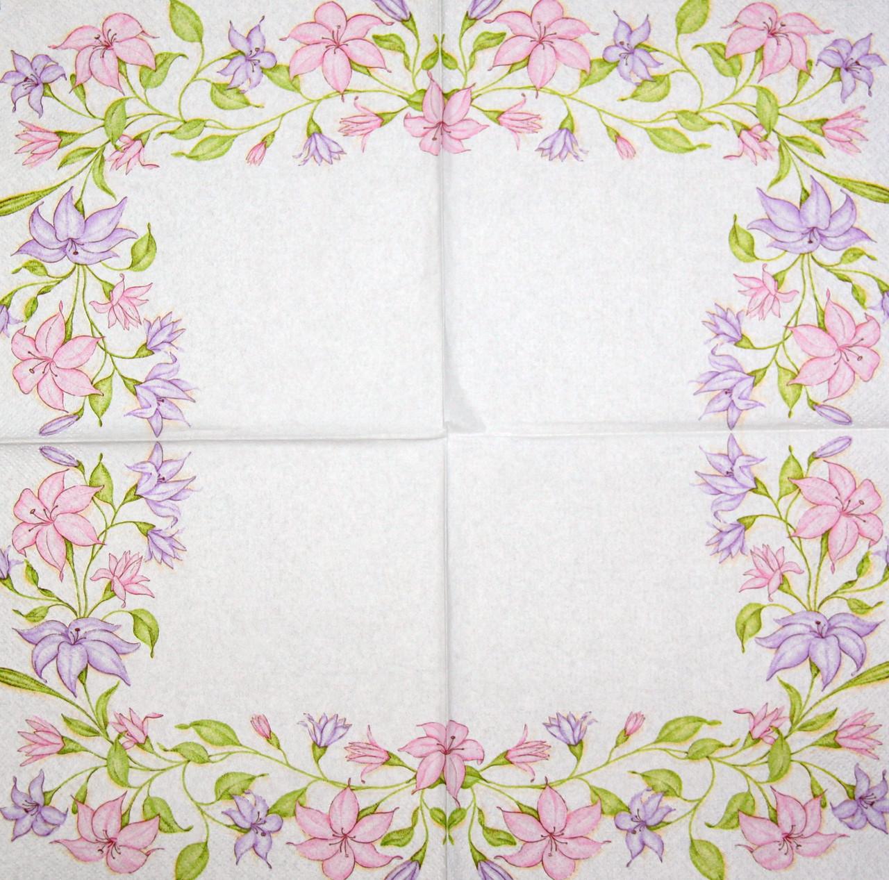 Салфетка декупажная Нежные цветы 7307