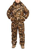 "Зимний костюм из непромокаемой ткани ""Осенний лес"" до -30℃  (короткая куртка)"