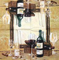 Декупажная салфетка Вино 7308