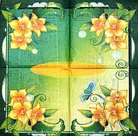 Декупажные салфетки Жёлтые цветы 7311