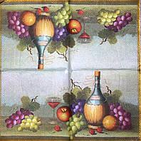 Декупажная салфетка Натюрморт с вином 7313