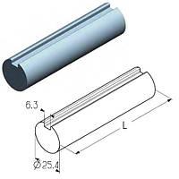 Вал сплошной (D=25,4мм) для тяжёлых ворот ролет гаражных и промышленных Alutech TSS-4500