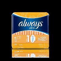 """Гігієнічні прокладки """"Always"""" ультра лайт"""" 3 краплі (10шт. )"""