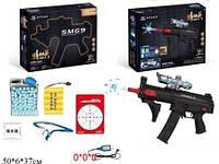 Пистолет 6803 с гелевыми пульками,мишенью,очки аккум.кор.50*6*37 ш.к./16/